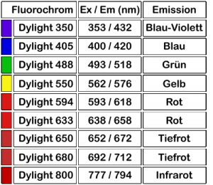 Dylight Fluorochrome von ImmunoReagents